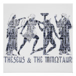 Theseus & The Minotaur Print