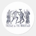 Theseus & The Minotaur Round Stickers