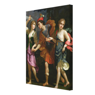 Theseus with Ariadne and Phaedra Canvas Print