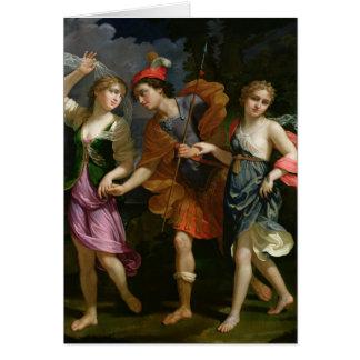 Theseus with Ariadne and Phaedra Card
