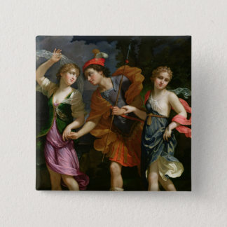 Theseus with Ariadne and Phaedra Pinback Button