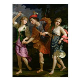 Theseus with Ariadne and Phaedra Postcard