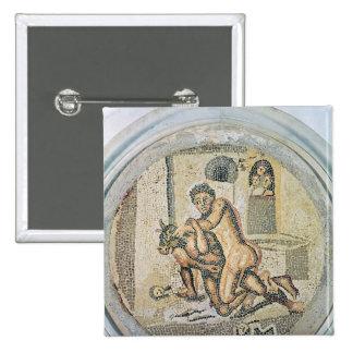 Theseus wrestling with the Minotaur Button