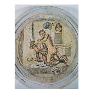 Theseus wrestling with the Minotaur Poster