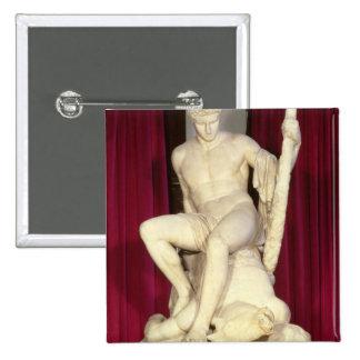 Theseus y el Minotaur, 1782 Pin Cuadrado