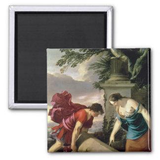 Theseus y su madre Aethra, c.1635-36 Imán De Frigorífico