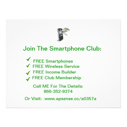 TheSmartphoneClub Personalized Flyer