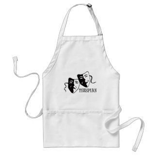 thespian black adult apron