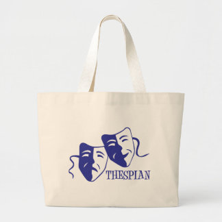 thespian blue canvas bags