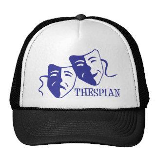 thespian blue mesh hat