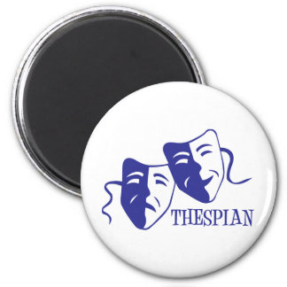 thespian blue 2 inch round magnet