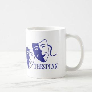 thespian blue mug