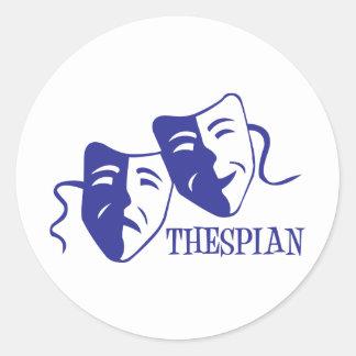 thespian blue sticker