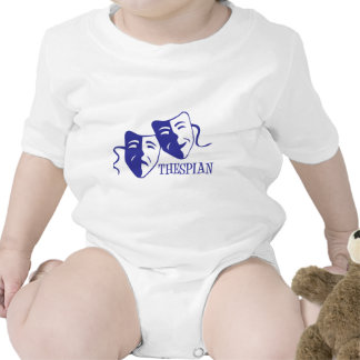 thespian blue baby bodysuit