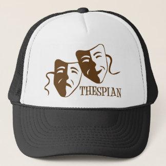 thespian brown trucker hat