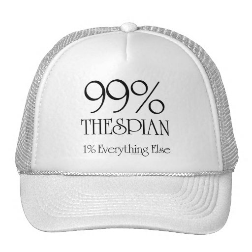 Thespian del 99% gorras