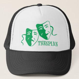 thespian green trucker hat
