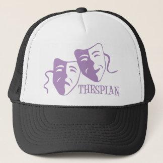 thespian lavender trucker hat