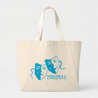 thespian light blue bag