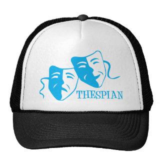 thespian light blue trucker hat