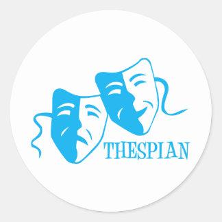 thespian light blue sticker