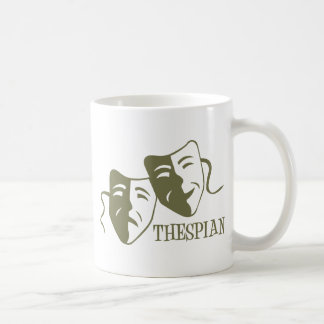 thespian light od green classic white coffee mug
