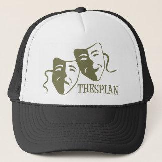 thespian light od green trucker hat