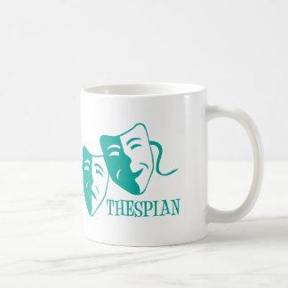 thespian light teal mug