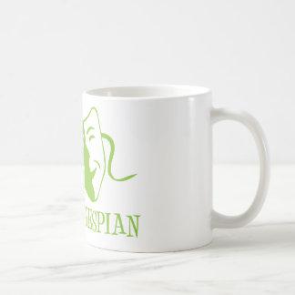 thespian lime green coffee mugs