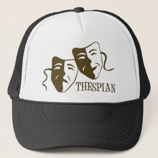 thespian od green trucker hat
