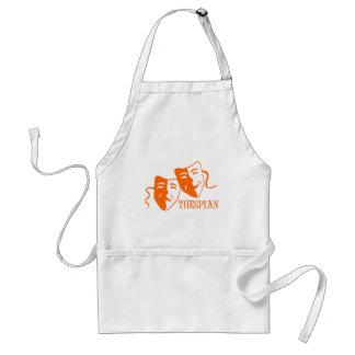thespian orange aprons
