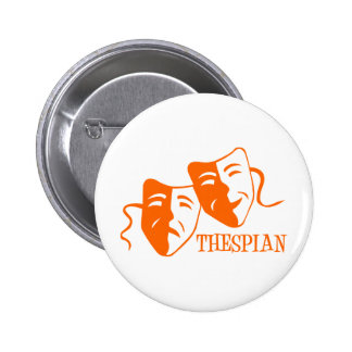 thespian orange button