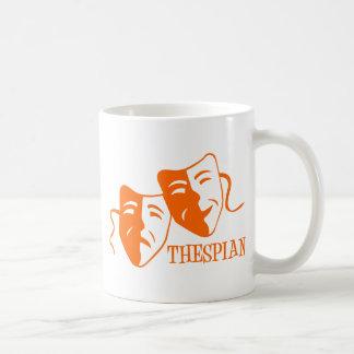 thespian orange coffee mugs