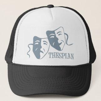 thespian periwinkle trucker hat
