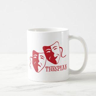 thespian red classic white coffee mug