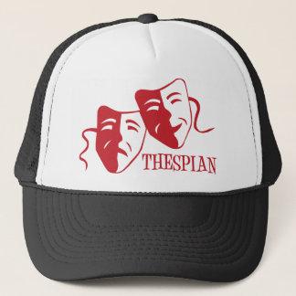 thespian red trucker hat
