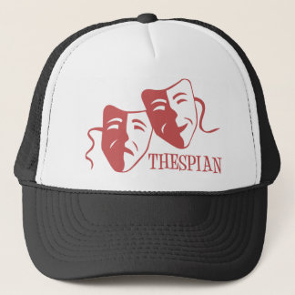 thespian salmon trucker hat