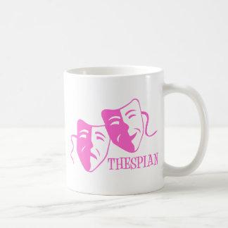 thespian soft pink coffee mugs