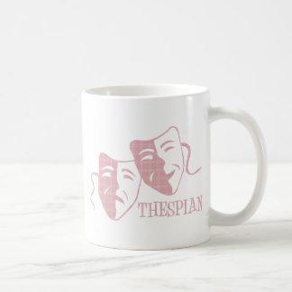 thespian soft pink plaid mugs