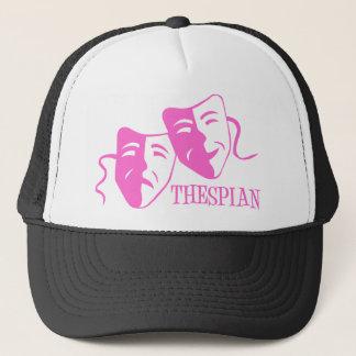 thespian soft pink trucker hat