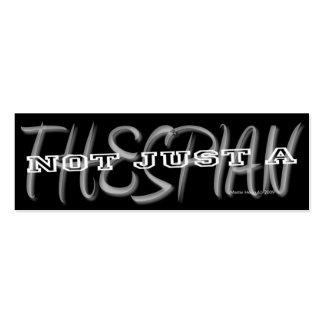 Thespian - tarjeta personal de los medios sociales