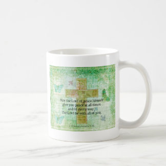 Thessalonians 3:16  Inspirational BIBLE quote Coffee Mug