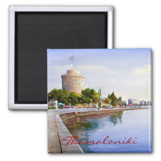 Thessaloniki 2 Inch Square Magnet