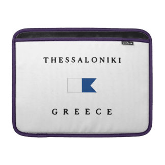 Thessaloniki Greece Alpha Dive Flag Sleeve For MacBook Air