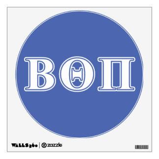 Theta beta letras blancas y azules del pi