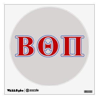 Theta beta letras rojas y azules del pi