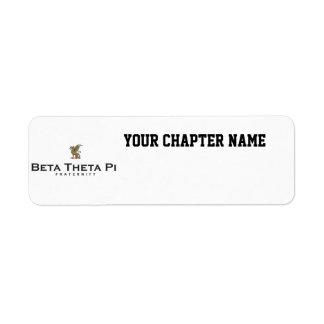 Theta beta pi con el dragón - color etiqueta de remitente