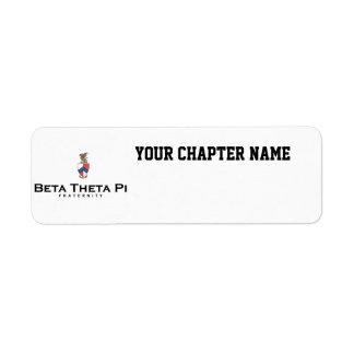 Theta beta pi con el escudo - color etiqueta de remite