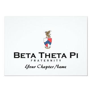"""Theta beta pi con el escudo - color invitación 5"""" x 7"""""""