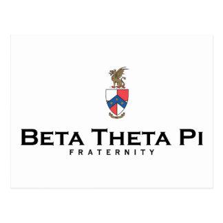 Theta beta pi con el escudo - color tarjeta postal